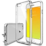 iPhone 6 / 6s Case - Ringke FUSION ***All New Shock Absorption Technology*** [FREE Bonus HD Screen Protector Included][CRYSTAL VIEW] Crystal Clear Shock Absorption TPU Bumper Drop Protection Premium Clear Hard Back [Scratch Resistant][Active Touch Technology] for Apple iPhone 6 / 6s - Eco/DIY Package