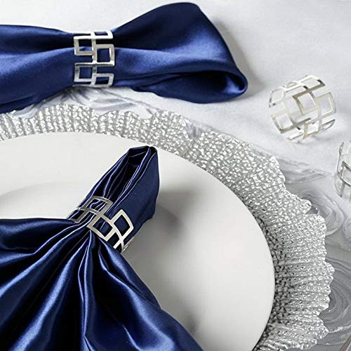 Mikash Classic Design Aluminum Napkin Rings Wedding Dinner Party Decorations Sale | Model WDDNGDCRTN - 16877 | 100 Pieces ()
