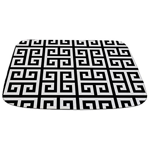 - CafePress Classy Greek Key Black Decorative Bathmat, Memory Foam Bath Rug