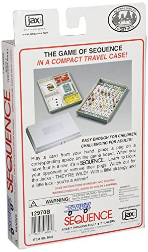 Jax Travel SEQUENCE - The Exciting Strategy Game in a Compact Travel Case!