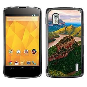 Paccase / SLIM PC / Aliminium Casa Carcasa Funda Case Cover - yuzhnaya afrika blyde river reka - LG Google Nexus 4 E960