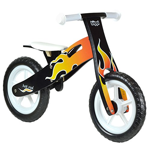 Boppi Kids Wooden Balance Bike - 3, 4 and 5 Years - Flame ()