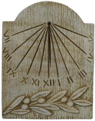 Catart ramo oliva Orologio da sole in calcestruzzo 39 x 50 cm. pietra da parete esterna