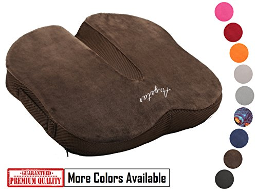 Argstar Coccyx Orthopedic Memory Foam Seat Cushion 3D Breathable for Back Pain Coffee by Argstar