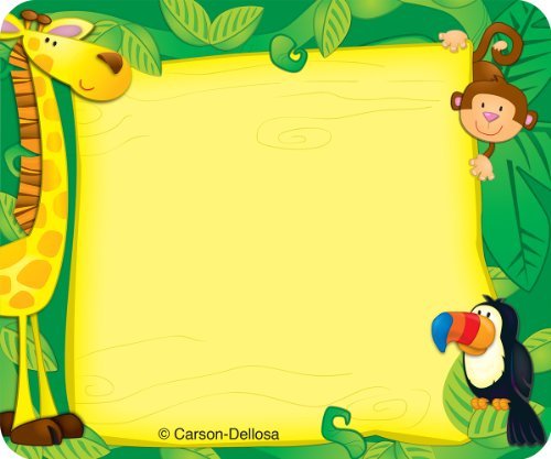 Self Carson Adhesive (Carson Dellosa Jungle Name Tags (150002))