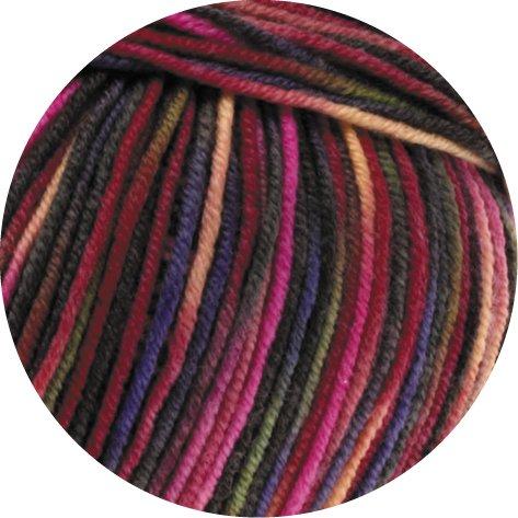 Lana Grossa Cool Wool 2000Print 749Rosa/Viola/verde/Albicocca/Frutti di bosco