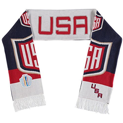 Mitchell & Ness World Cup Of Hockey Team Country Knitted Scarf (One Size, (1 Usa World Cup)