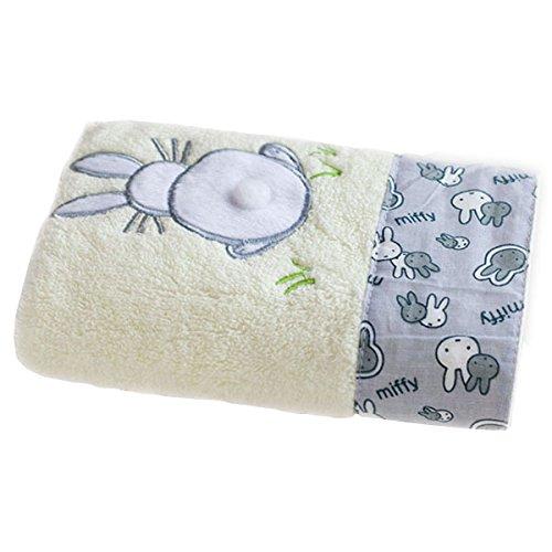 lzndeal Serviette de bain de coton confortable pour le bébé Smothness antibactérien Cartoon mignon enfants lapin imprimer serviettes de plage