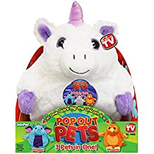 Pop Out Pets Fantasy, Reversible Plush Toy, Get 3 Stuffed Animals in One  Unicorn, Dragon & Phoenix, 8 in.