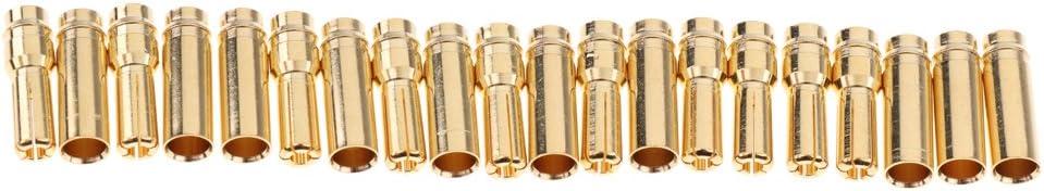 SDENSHI Hohe Qualit/ät 5 Paar EC5 5mm Stecker Buchse F/ür RC ESC LIPO