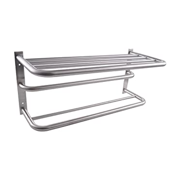 KES SUS 304 Stainless Steel Bath Towel Rack With Shower Towel Bar Bathroom  3 Tier