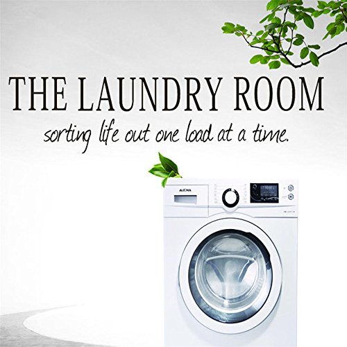 Price comparison product image Simayixx Decor, the laundry room Quote Removable Decal Room Wall Sticker Vinyl Art Home Decor (Black)