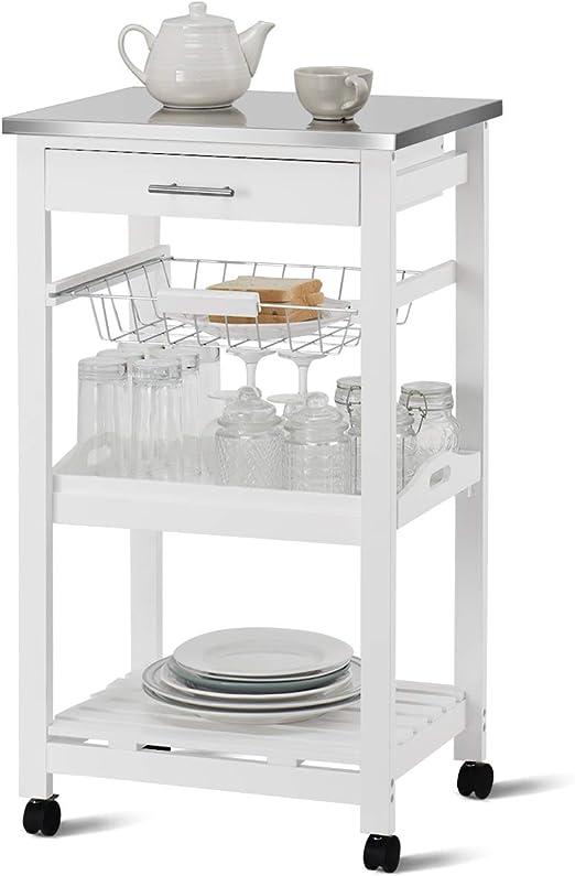Amazon.com: Giantex Kitchen Island Carro de cocina con ...