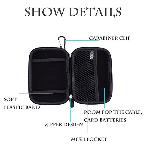 Joystar.LTD 6231697 5 Inch GPS Case GPS Carrying Case Hard Shell Case for Garmin Drive 50 Garmin n/üvi 2555LMT Drive Smart 50 57LM 2595 LMT 2539LMT 1490LMT 1450LMT Tomtom Vehicle GPS Navigator and Accessories Black