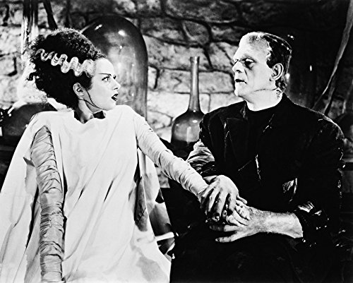 Erthstore 11x14 inch Fine Art Print of Bride of Frankenstein Mary Shelley Comes to Life Elsa Lanchester Boris Karloff]()