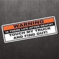 Don't Touch My Truck Sticker Funny Bumper Sticker Vinyl Decal for Off Road 4x4 Coal Roller Truck