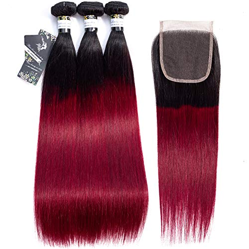 Wingirl-Hair-1B99j-Ombre-Brazilian-Straight-Hair-3-Bundles-With-Closure-8A-Unprocessed-Human-Hair-Bundles-With-Closure-20-22-2418-1B99j