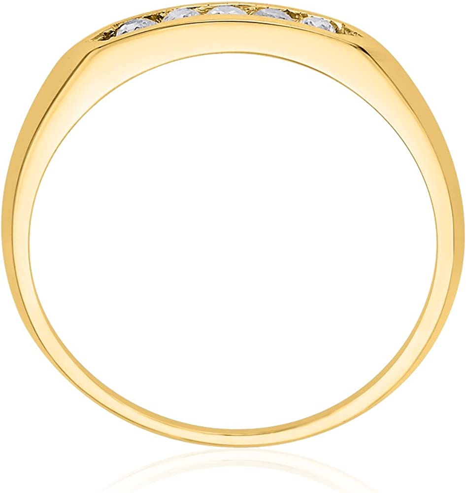 Size-3.25 G-H,I2-I3 Diamond Wedding Band in 10K Yellow Gold 1//8 cttw,