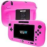 Cheap Nintendo Wii U Case, TechSpec(TM) Hot Pink Full Silicone Soft Skin Rubber Case Cover for Nintendo Wii U Gamepad Controller
