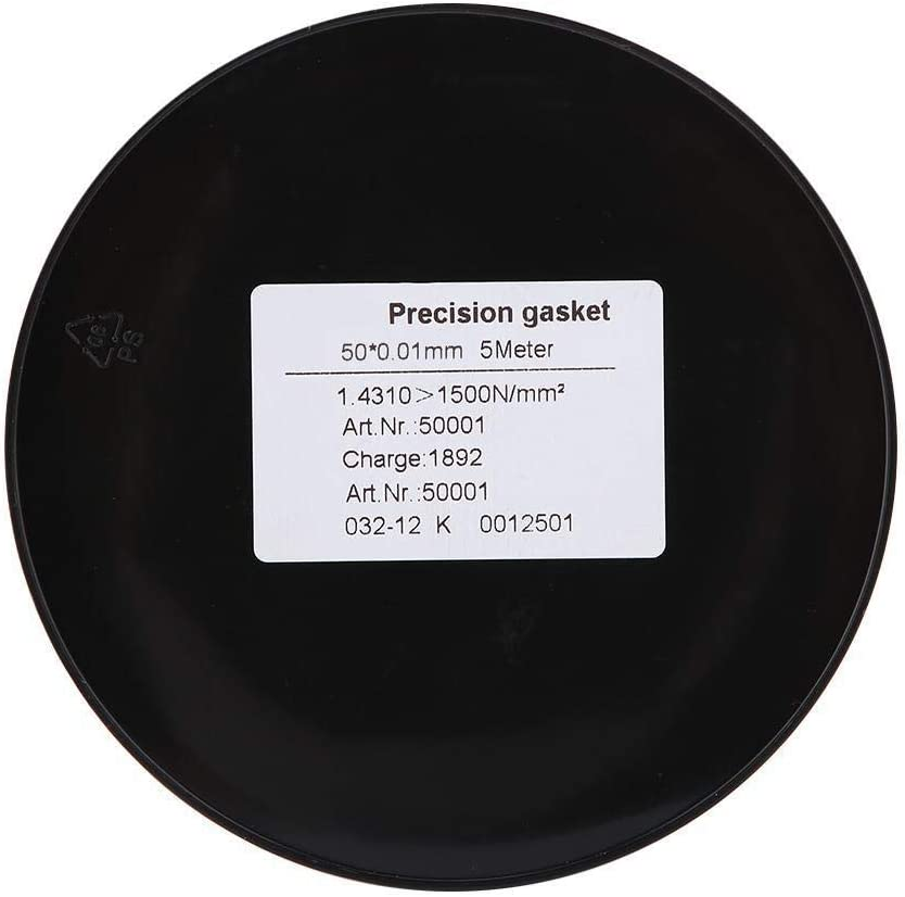 Beennex Stainless Steel Precision Spacer Washer Gasket 5m Length 50mm Width 0.01mm Thickness