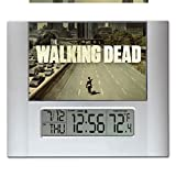 The Walking Dead Title Screen Digital Wall or Desk Clock with Temperature and Alarm