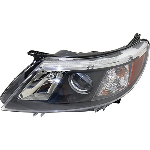 Evan-Fischer EVA1351130130204 Headlight for Saab 9-3 08-10 LH Assembly Halogen Left Side