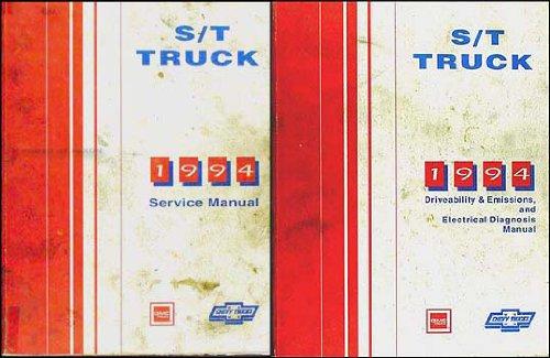 1994 S-10 Pickup Blazer Sonoma Jimmy Repair Shop Manual Set Chevy GMC ()