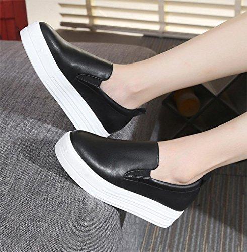 scarpe ascensore Ms. primavera scarpe single focaccina delle donne dal fondo pesante scarpe piane scarpe casual , US8.5/ EU40 / UK6.5/ CN40
