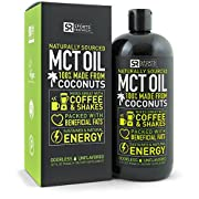 Amazon Lightning Deal 70% claimed: Premium MCT Oil derived only from Organic Coconuts - 32oz BPA free bottle | The only MCT oil certified Paleo Safe and registered by the Vegan Society. Non-GMO and Gluten Free.