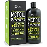 Premium MCT Oil derived only from Organic Coconuts - 32oz BPA free bottle | The only MCT oil certified Paleo Safe and registered by the Vegan Society. Non-GMO and Gluten Free.