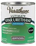 Rust-Oleum Varathane 250241H 1-Quart Classic Clear Water Based Outdoor Spar Urethane, Semi Gloss Finish