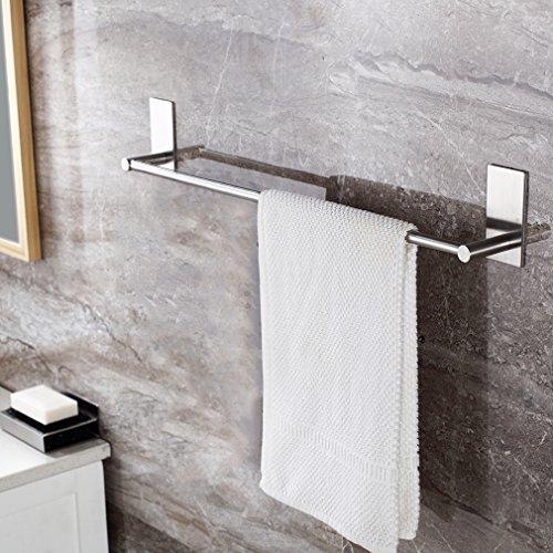 YKS - Toallero fabricado en acero inoxidable - Ideal para el baño o la cocina - Medidas 70 cm: Amazon.es: Bricolaje y herramientas