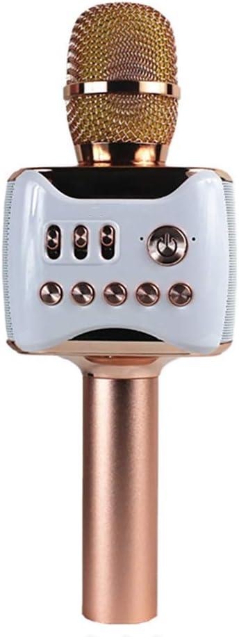 PGODYQ - Micrófono inalámbrico con Bluetooth para Canciones, micrófono USB, micrófono inalámbrico portátil para Karaoke y Reproductor de Bluetooth de Mano para Cantar y Grabar, Sonido