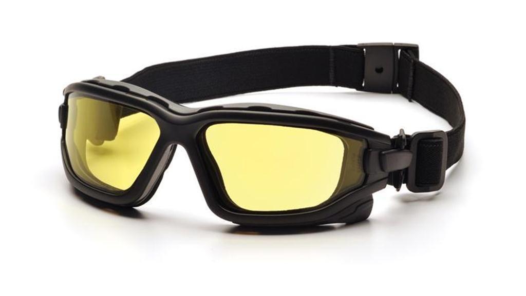 Pyramex I-Force Slim Safety Goggle, Black Frame/Amber Anti-Fog Lens