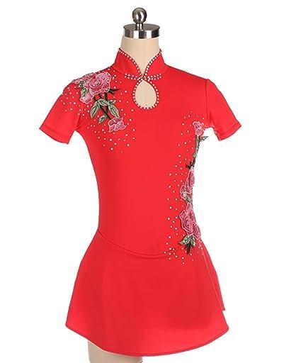 Heart&M Vestido de Patinaje artístico para niñas Mujeres ...