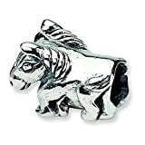 Sterling Silver Reflections SimStars Kids Horse Bead Charm
