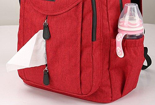 Mamá bolsa hombro multi-funcional de gran capacidad madres embarazadas salir mochila eco-madre para ser producido paquete ( Color : Purple ) Gris claro