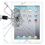iPad 2 3 4 Glass Screen Protector, Abestbox 9H HD Premium Tempered Glass for Apple iPad2 / iPad3 / iPad4, [0.26mm Thickness], 99.9% Light Transmission, Most Durable