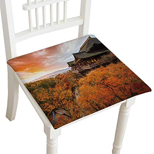 HuaWuhome Cushion Couleur Automne au Temple Kiyomizu dera Kyoto Japon Home Kitchen Office Chair Pads Seat Pads 26