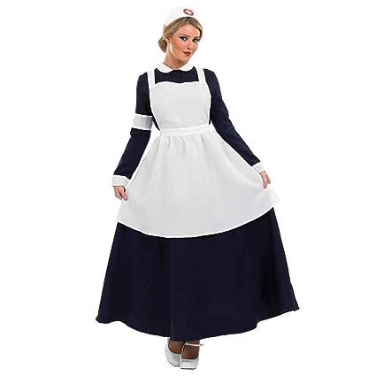Fun Shack- Costume Disfraz, Color victorian nurse, mujeres: 12-14 (FN3283M)