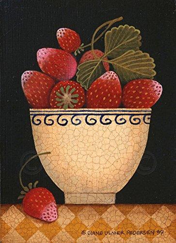 Cup O Strawberries by Diane Ulmer Pedersen Fruit Still Life Kitchen Print Poster 12x16 272359681