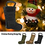 Tbest Chaussettes de Cadeau de Noël de Sac Tactique de Bas de Noël, Sac de Rangement en Nylon d'accessoires Militaires… 13