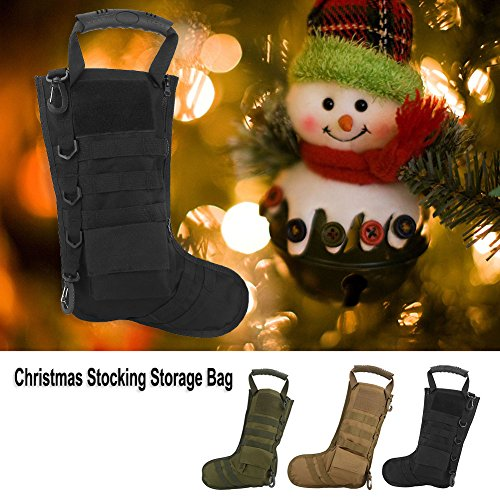 Tbest Chaussettes de Cadeau de Noël de Sac Tactique de Bas de Noël, Sac de Rangement en Nylon d'accessoires Militaires… 6