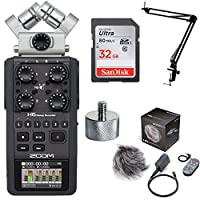 Zoom H6 Handy Recorder with H6 Accesory Pack, Knox Boom Arm & Memory Card