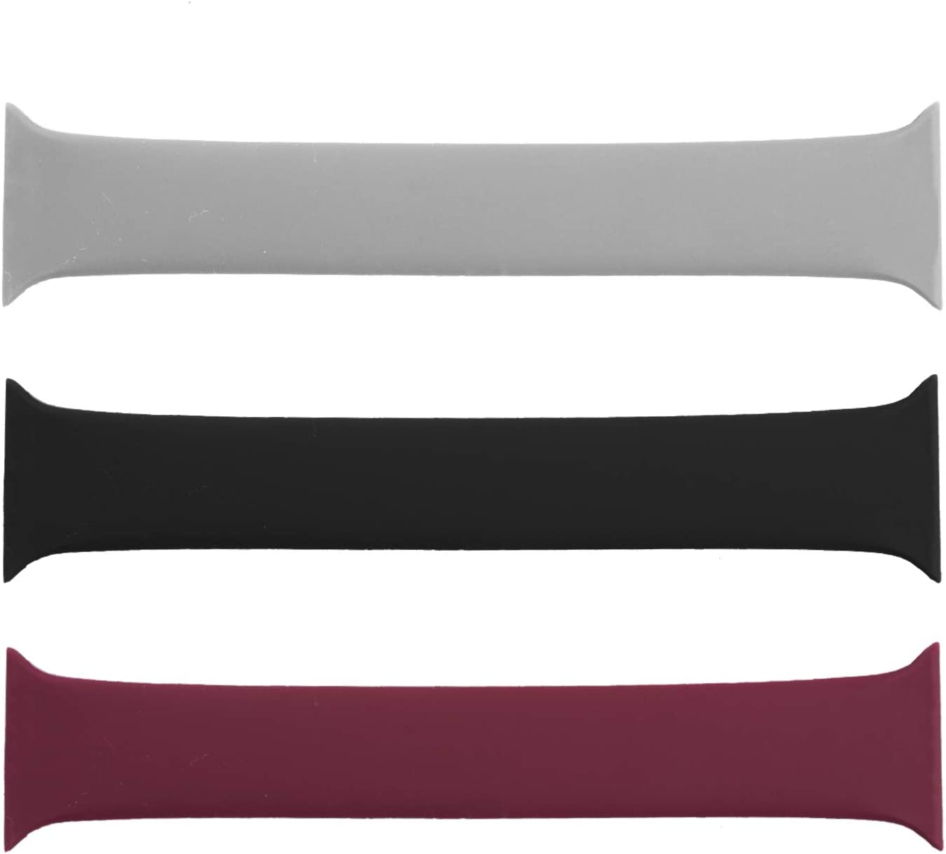 (3 Pack) Seltureone Sport Band Compatible for Apple Watch Band 38mm 40mm 42mm 44mm Loop, All-in-one Silicone Sport Bands Replacement Strap for iWatch SE, Series 6 5 4 3 2 1 Sport Edition (S/M/L)
