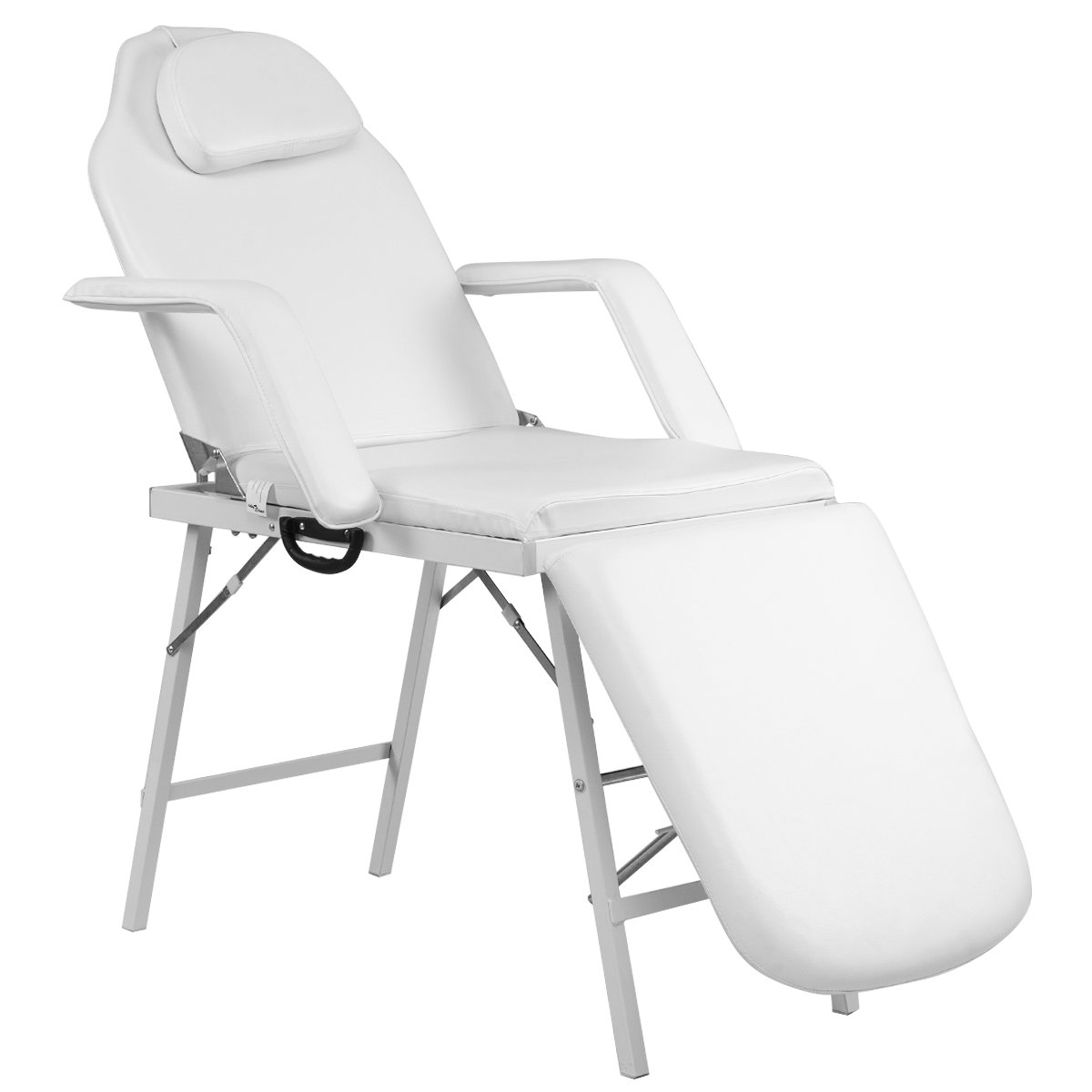 "Giantex 73"" Portable Tattoo Parlor Spa Salon Facial Bed Beauty Massage Table Chair White"
