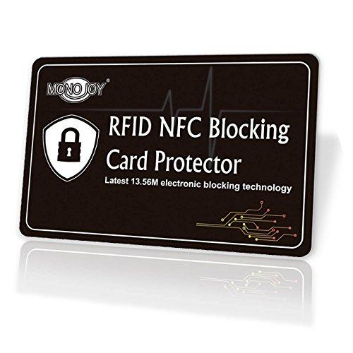 RFID Blocking Card, Credit Card Protector Passport Protectors, RFID Signal Card Blocker RFID Sleeve RFID Credit Card Holder, RFID Blocker Card Fits All Wallet & Card Holder Slots for Women/Men