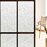 Kitchen Windows Coavas Decorative Static Film Privacy Window Film Self Adhesive Glass Film Frosted Window Film Window Privacy Film Stained Glass Window Film For Bathroom Home Kitchen Office ( 17.7 by 78.7 Inches )
