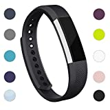 iGK For Fitbit Alta Bands and Fitbit Alta HR Bands, Newest Adjustable Sport Strap Replacement Bands for Fitbit Alta and Fitbit Alta HR Smartwatch Fitness Wristbands with Metal Clasp Black Small