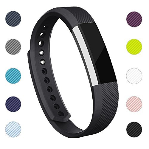 iGK Replacement Bands Compatible for Fitbit Alta and Fitbit Alta HR, Newest Adjustable Sport Strap Smartwatch Fitness Wristbands with Metal Clasp Black Small